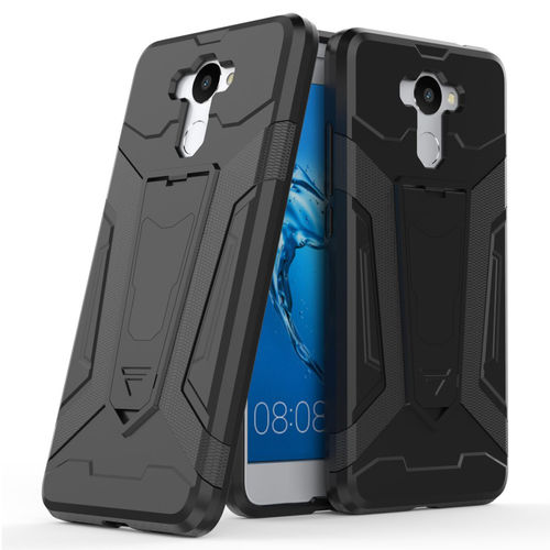 Slim Guard Tough Plated Shockproof Case for Huawei Y7 - Black